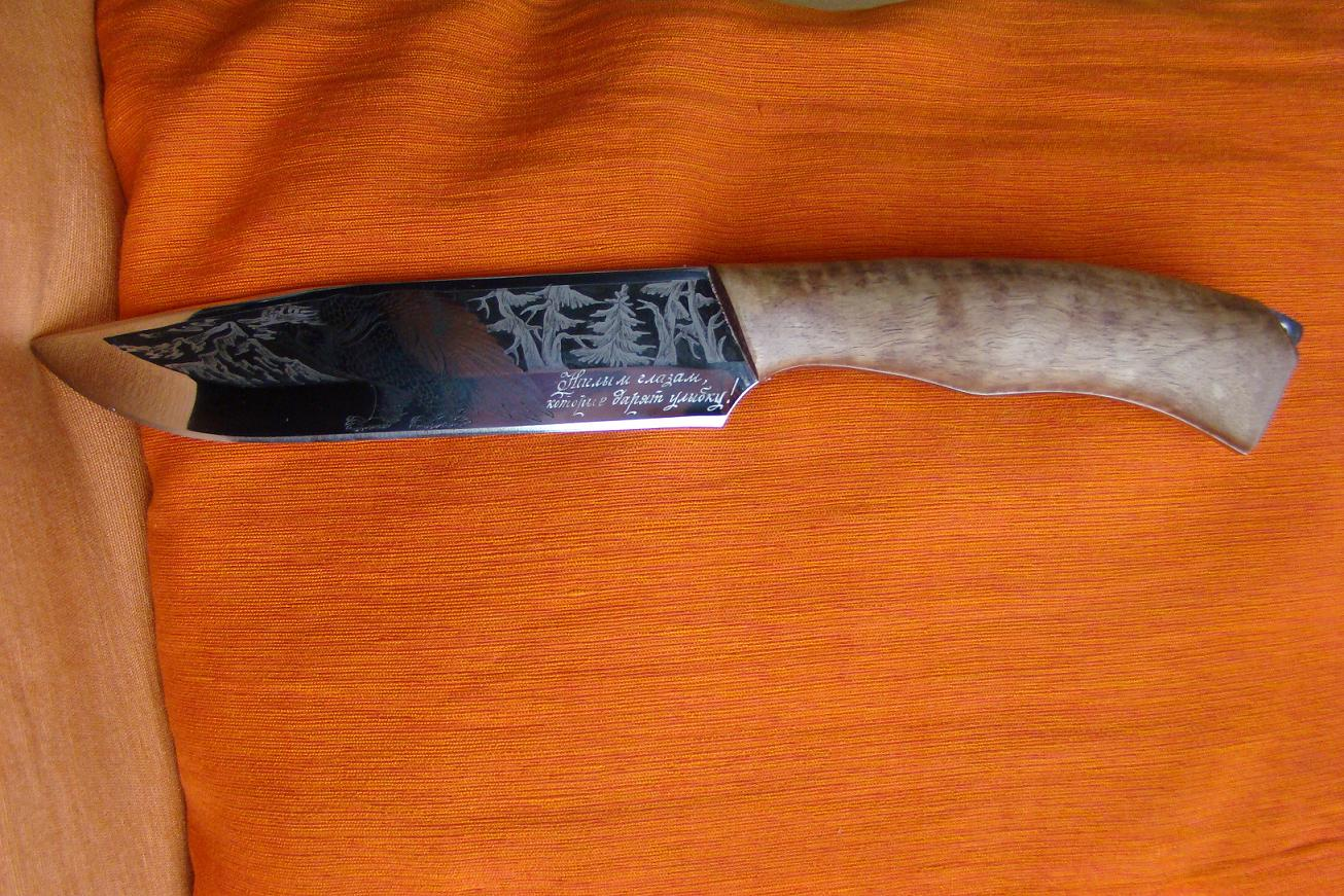 Изготовление гравировок на ноже 134